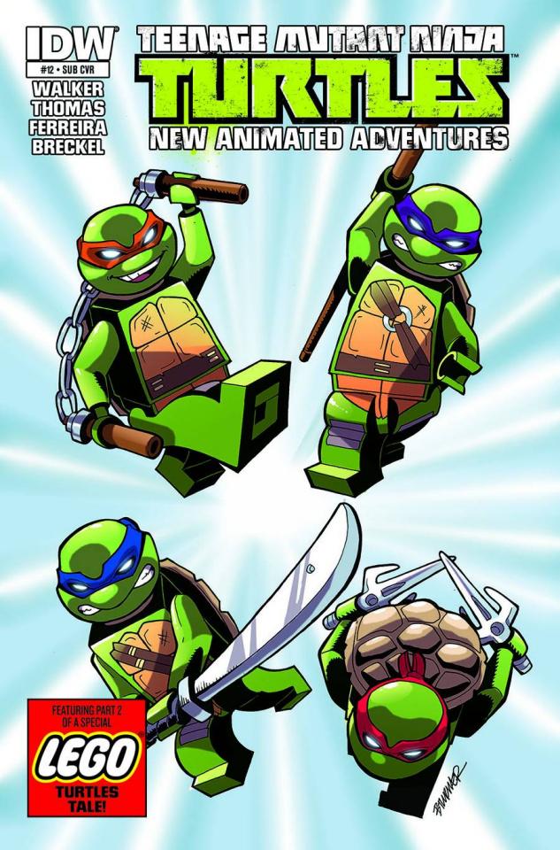 Teenage Mutant Ninja Turtles: New Animated Adventures #12 (Lego Cover Cover)