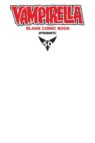 Vampirella #1 (Blank Comic Cover)