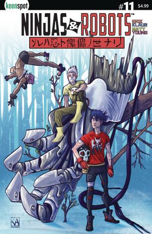 Ninjas & Robots #11 (Katelyn Amacker Cover)