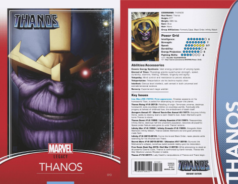 Thanos #13 (Christopher Trading Card Cover)