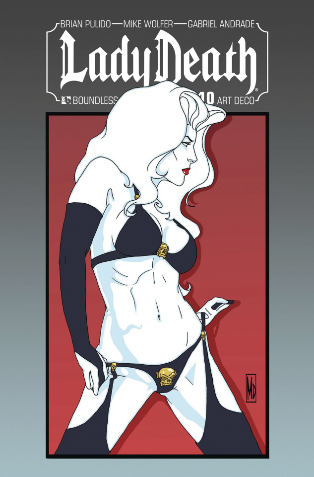 Lady Death #10 (Art Deco Variant Cover)