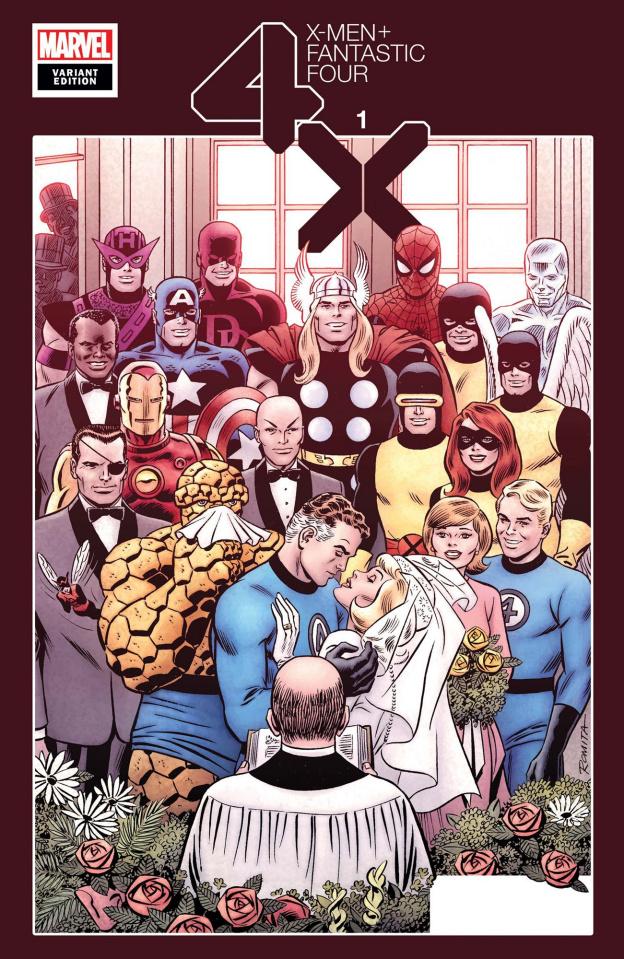 X-Men + Fantastic Four #1 (Hidden Gem Cover)