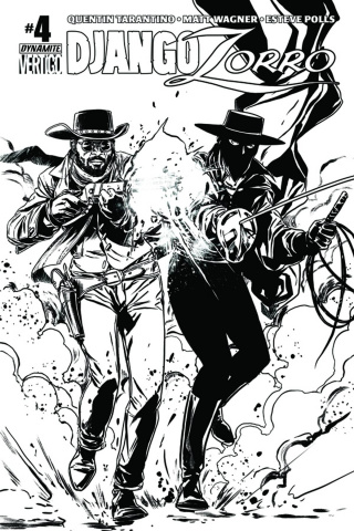 Django / Zorro #4 (15 Copy Laming B&W Cover)