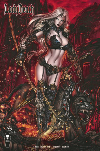 Lady Death: Chaos Rules #1 (Inferno Cover)