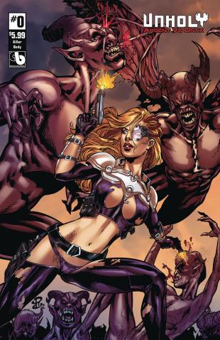 UnHoly: Argent vs. Onyx #0 (Killer Body Cover)