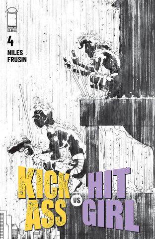 Kick-Ass vs. Hit-Girl #4 (B&W Romita Jr Cover)