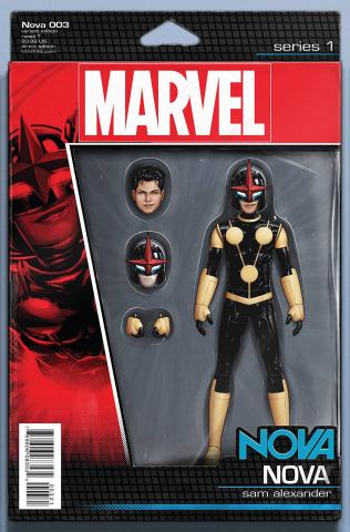 Nova #3 (Christopher Action Figure Cover)