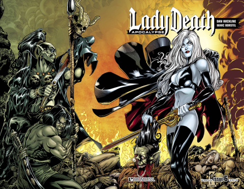 Lady Death: Apocalypse #6 (Wrap Cover)