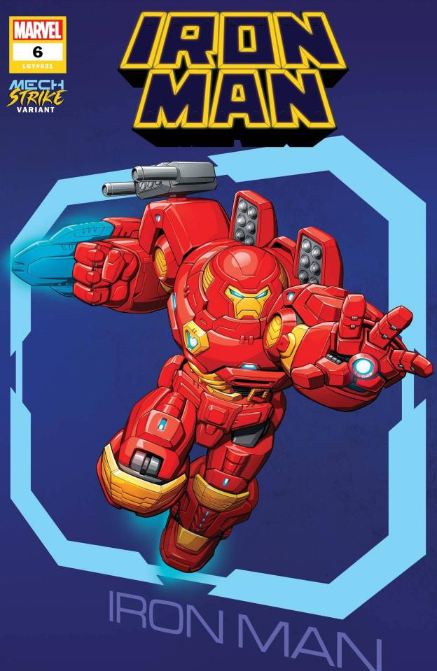 Iron Man #6 (Brown Avenger Mech Strike Cover)
