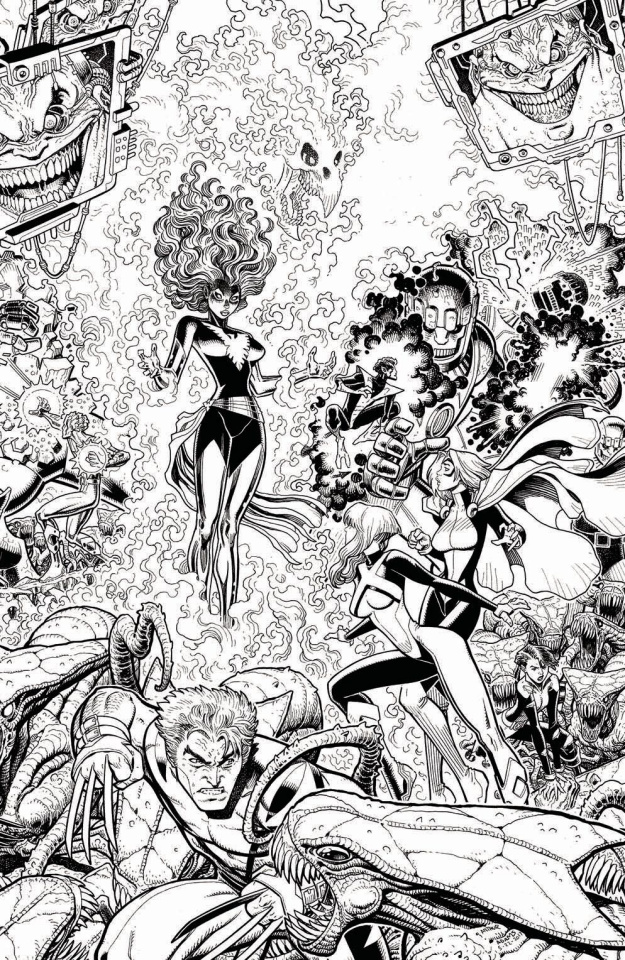 X-Men: Blue #13 (Adams B&W Connecting Cover)