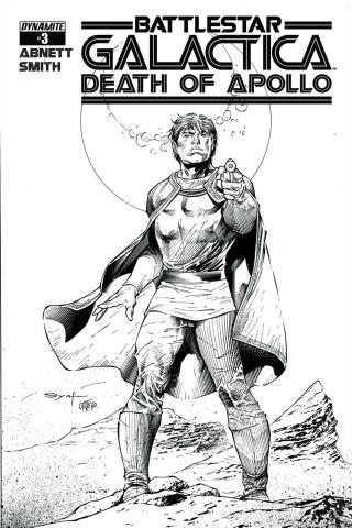 Battlestar Galactica: Death of Apollo #3 (15 Copy Syaf B&W Cover)