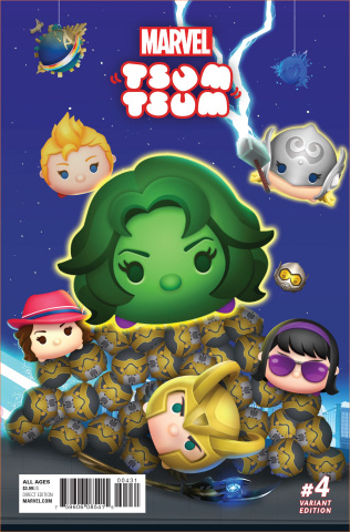 Marvel Tsum Tsum #4 (Classified Connecting Cover)