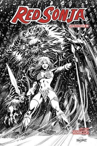 Red Sonja #25 (25 Copy Mandrake B&W Cover)