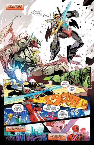 Mighty Morphin Power Rangers #47 (Mora Cover)