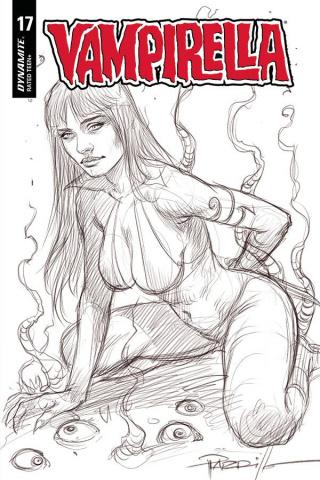 Vampirella #17 (10 Copy Parrillo B&W Cover)