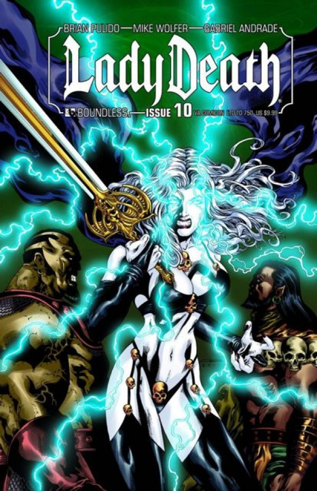 Lady Death #10 (Virgina Comicon Cover)