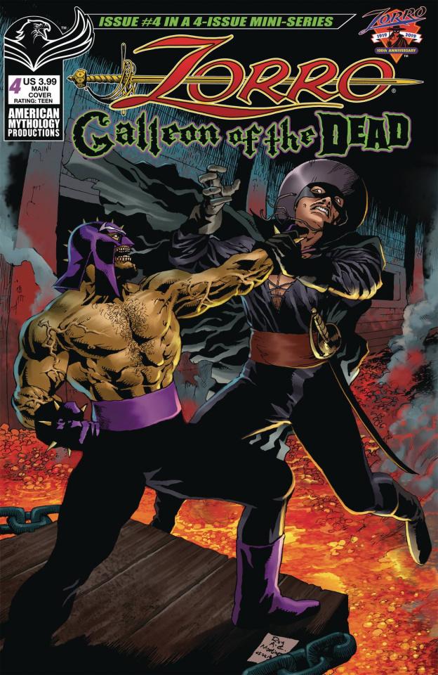 Zorro: Galleon of the Dead #4 (Martinez Cover)