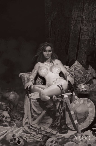 Red Sonja: The Price of Blood #1 (35 Copy Suydam B&W Virign Cover)