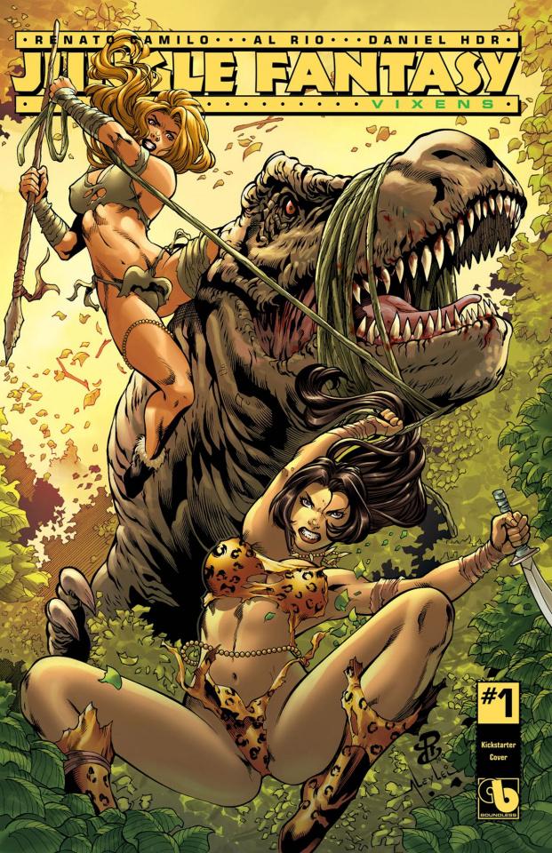 Jungle Fantasy: Vixens #1 (Kickstarter Cover)
