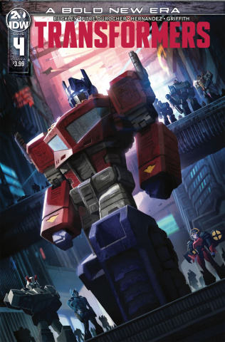 The Transformers #4 (Pitre-Durocher Cover)