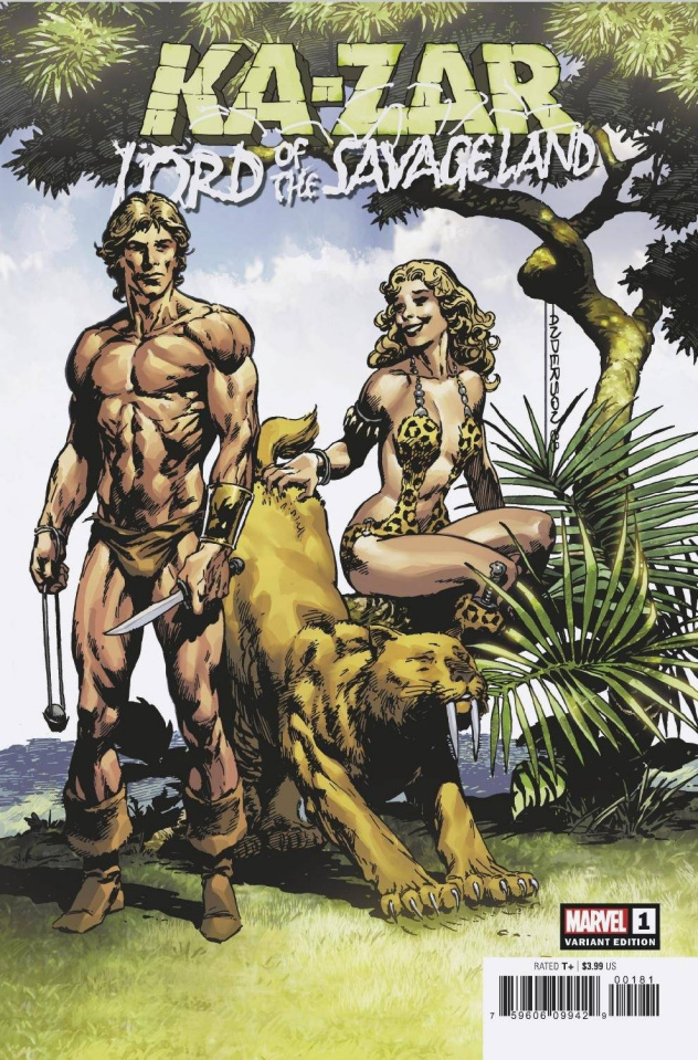 Ka-Zar: Lord of the Savage Land #1 (Anderson Hidden Gem Cover)