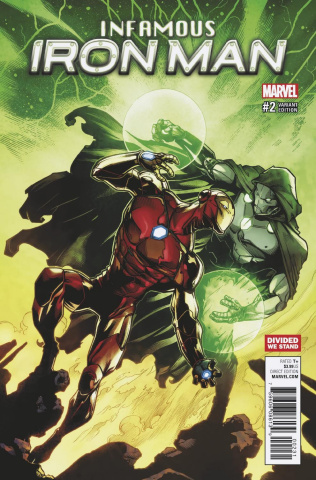 Infamous Iron Man #2 (Divided We Stand Cover)