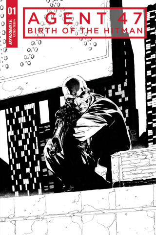 Agent 47: Birth of the Hitman #1 (20 Copy Tan B&W Cover)