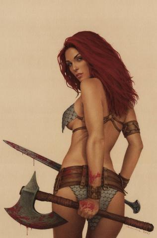 The Invincible Red Sonja #7 (Celina Virgin Cover)