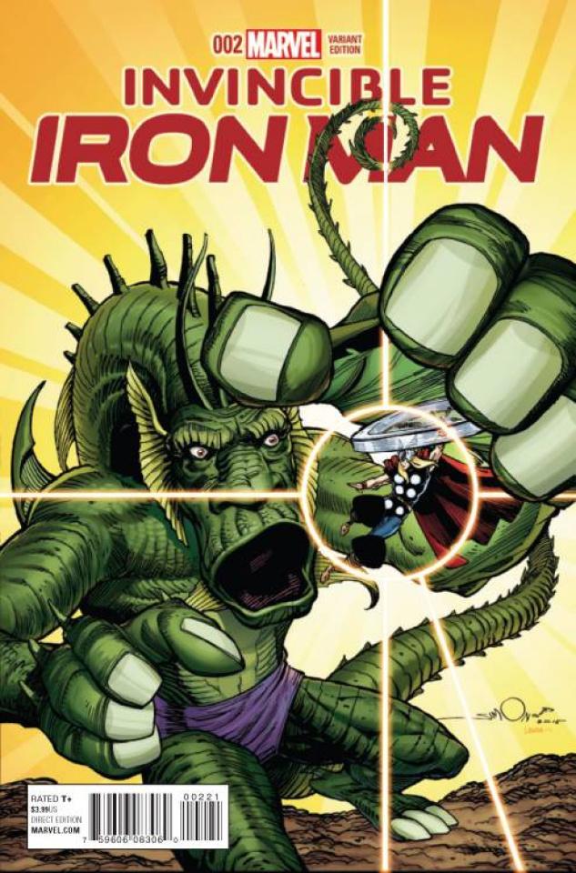Invincible Iron Man #2 (Simonson Kirby Monster Cover)