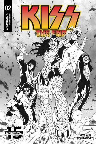 KISS: The End #2 (30 Copy Qualano B&W Cover)