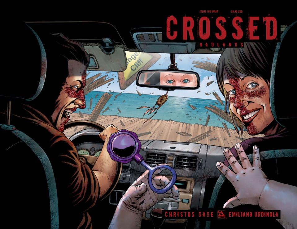 Crossed: Badlands #100 (Wrap Cover)