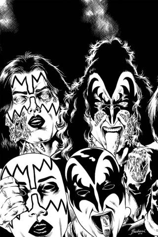 KISS: Zombies #4 (15 Copy Buchemi B&W Virgin Cover)
