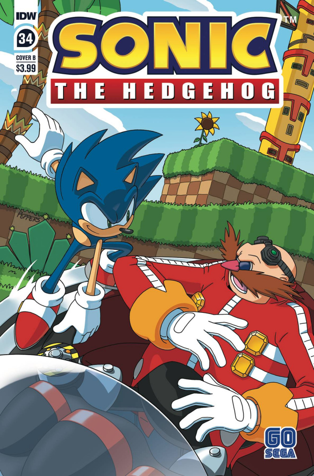 Sonic the Hedgehog #34 (Peppers Cover)