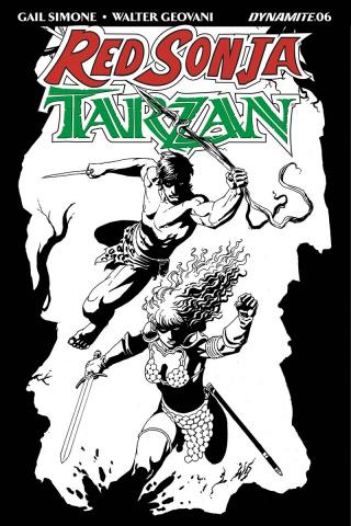 Red Sonja / Tarzan #6 (10 Copy Geovani B&W Cover)