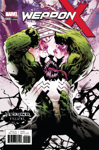 Weapon X #8 (Venomized Weapon H Cover)