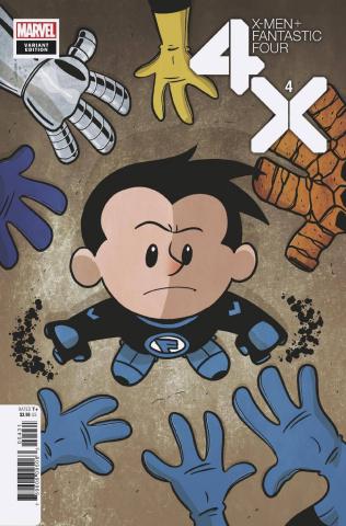 X-Men + Fantastic Four #4 (Eliopoulos Cover)