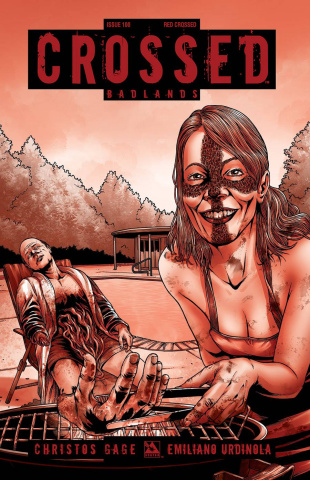 Crossed: Badlands #100 (Red Crossed Cover)