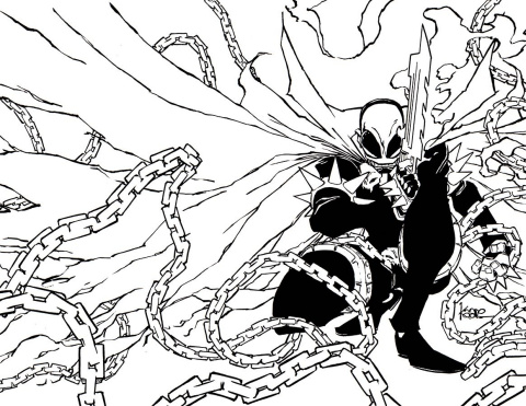 Renato Jones, Season Two #1 (Spawn Month B&W Cover)