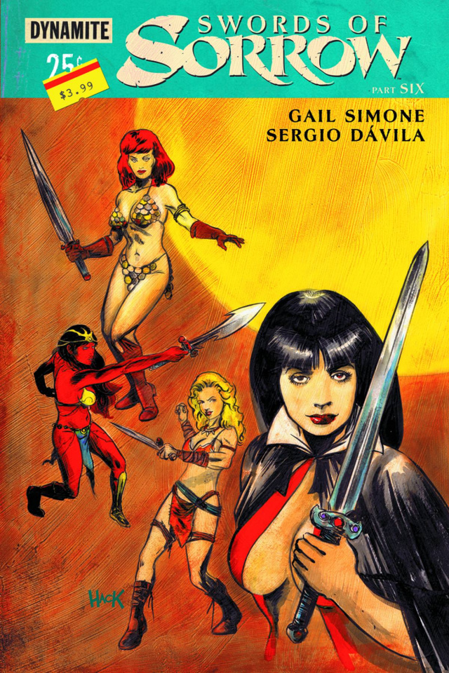 Swords of Sorrow #6 (Hack Subscription Cover)