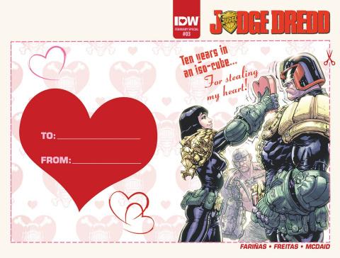 Judge Dredd #3 (Valentine's Day Card Cover)