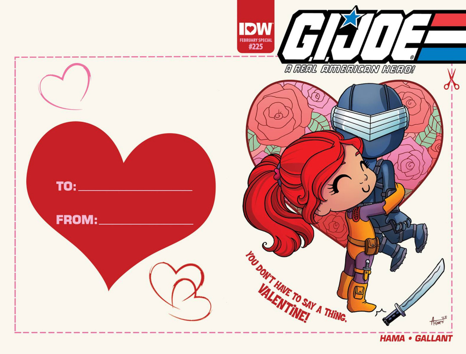G.I. Joe: A Real American Hero #225 (Valentine's Day Card Cover)