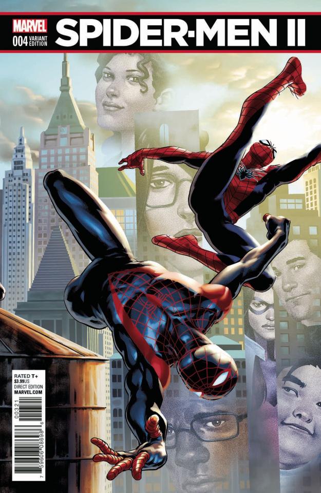 Spider-Men II #4 (Saiz Connecting Cover)