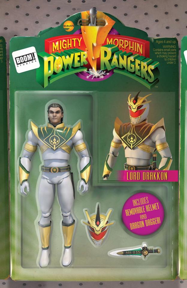 Mighty Morphin' Power Rangers #15 (Unlock Action Figure Santos Cover)