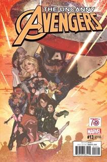 Uncanny Avengers #13 (Captain America 75th Anniversary Cover)