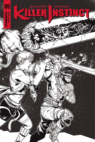 Killer Instinct #5 (10 Copy Sarraseca B&W Cover)