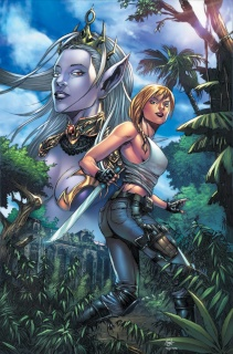 Grimm Fairy Tales: Escape From Monster Island #4 (Spay Cover)