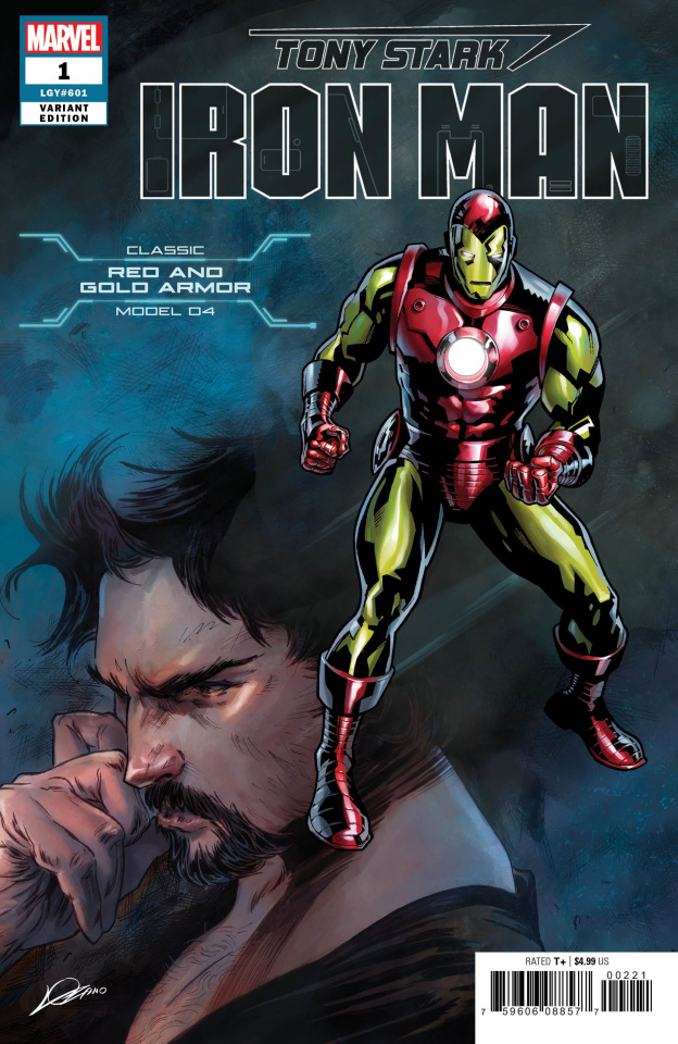 Tony Stark: Iron Man #1 (Classic Armor Cover)