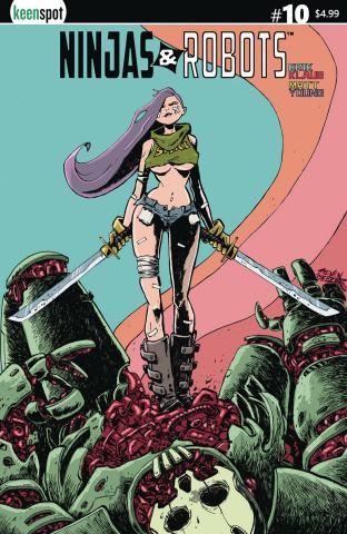 Ninjas & Robots #10 (Beezer Cover)