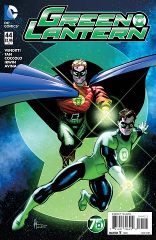 Green Lantern #44 (Green Lantern 75th Anniversary Cover)