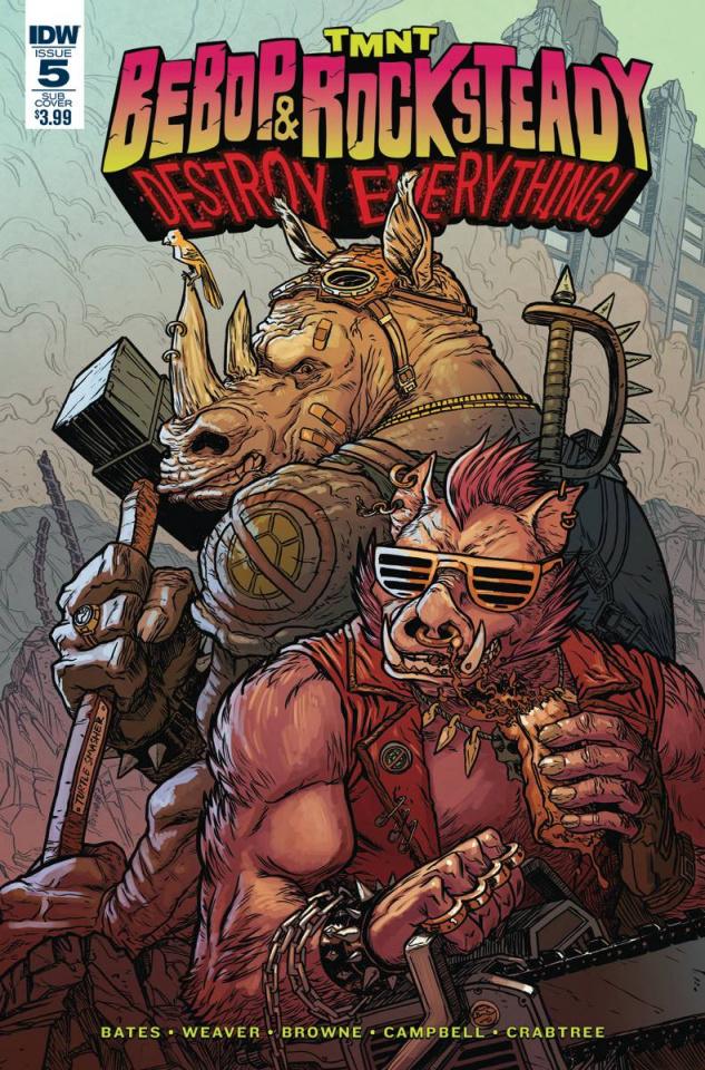 Teenage Mutant Ninja Turtles: Bebop & Rocksteady Destroy Everything #5 (Subscription Cover)